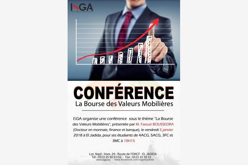conference la bourse des valeurs mobilieres eljadida bouge