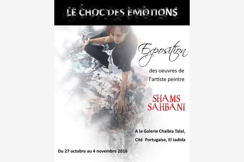 le choc des emotions expo shams sahbani a el jadida bouge evenement