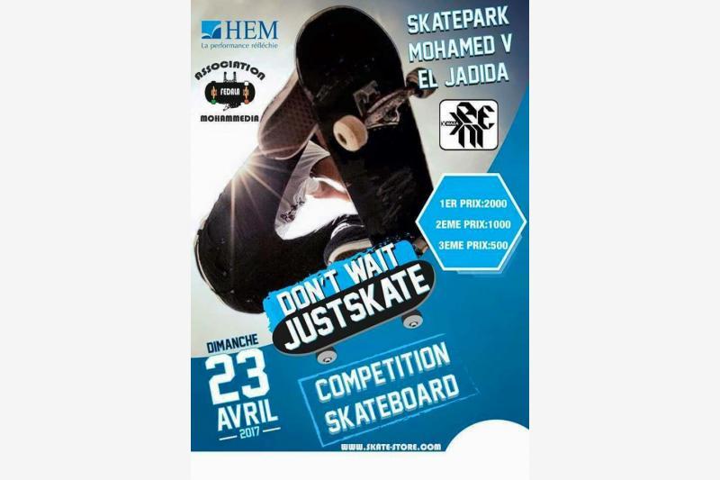 competition skatepark eljadida maroc