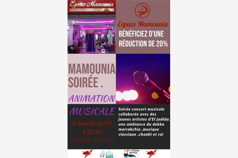 soiree concert musicale espace mamounia el jadida
