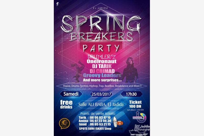 spring breakers party evenement festival eljadida bouge