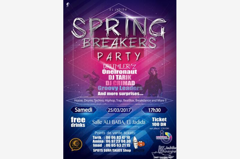 spring breakers party evenement festival eljadida bouge
