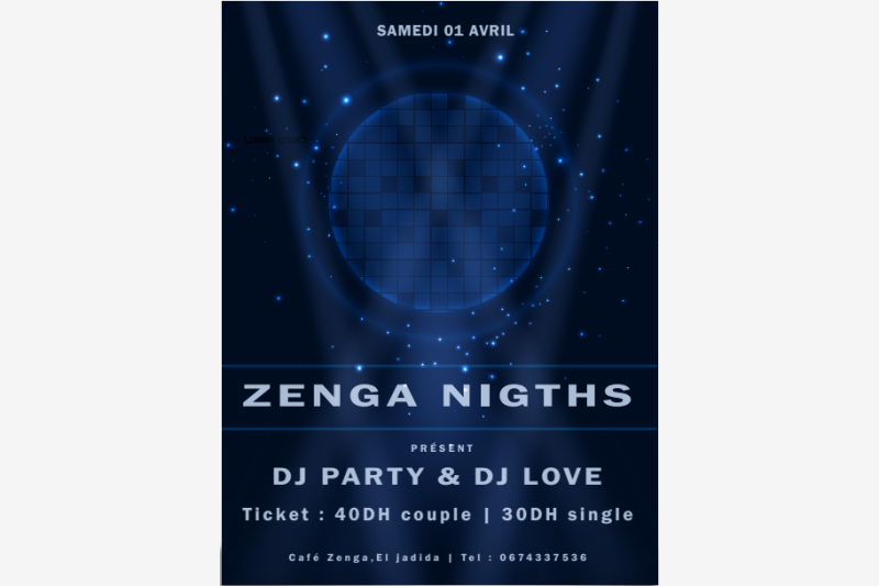 zenga night evenement festival eljadida bouge